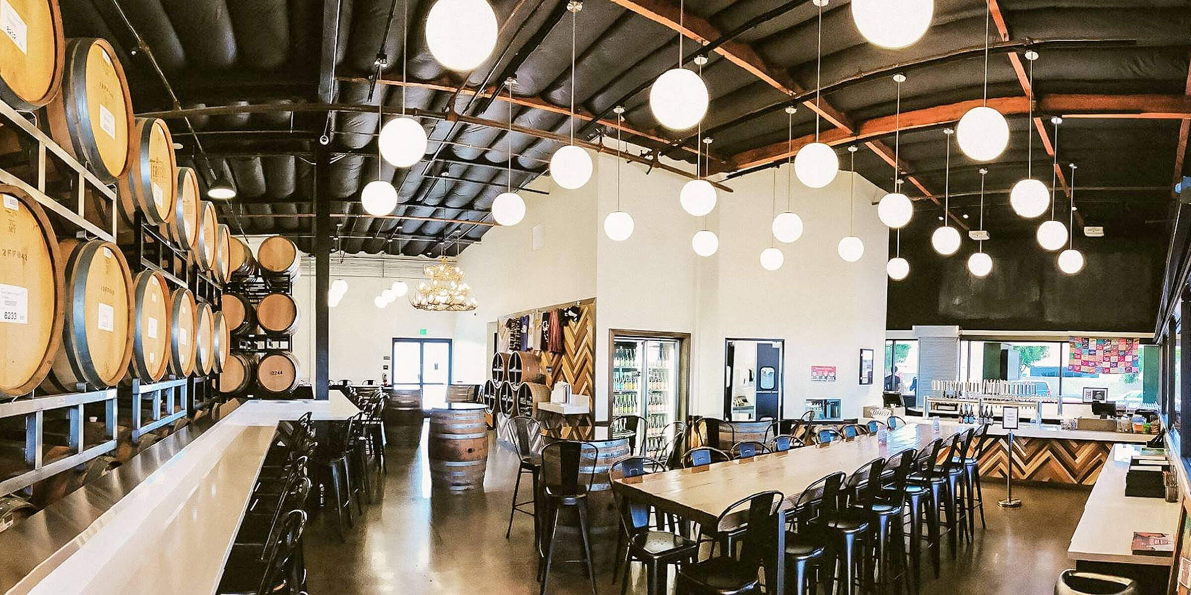 Inside the taproom at Bruery Terreux in Anaheim, California