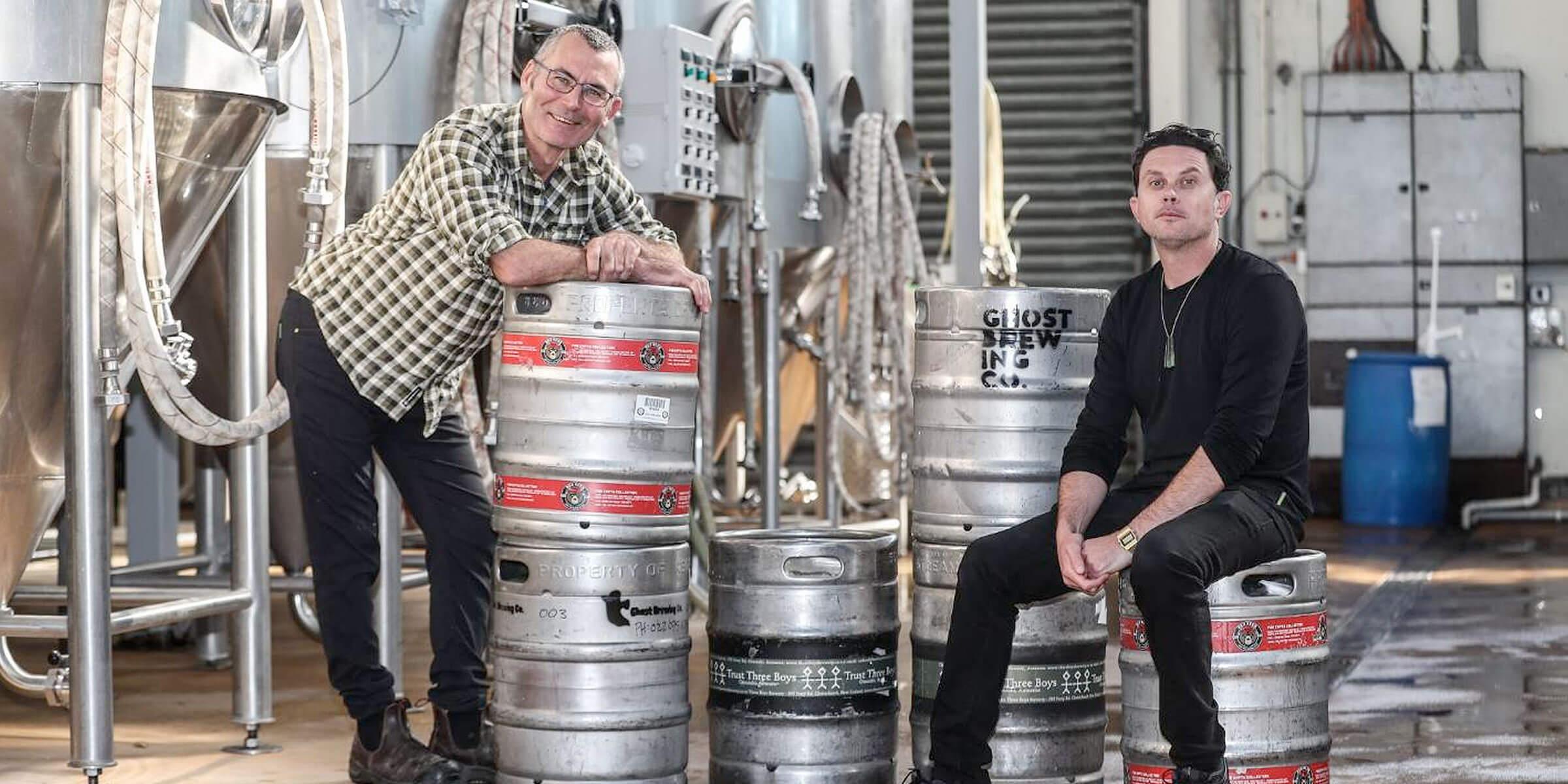 Beer brewers Ralph Bungard and Muz Moeller have launched the NZ Beer Exchange.