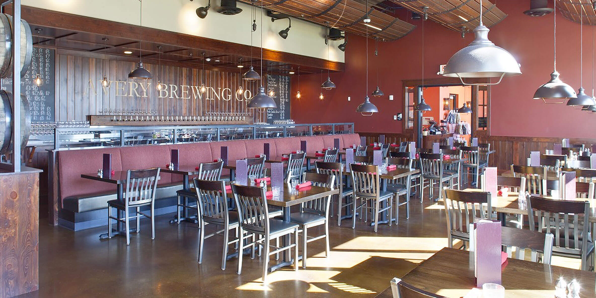 Inside the taproom at Avery Brewing Co. in Boulder, Colorado