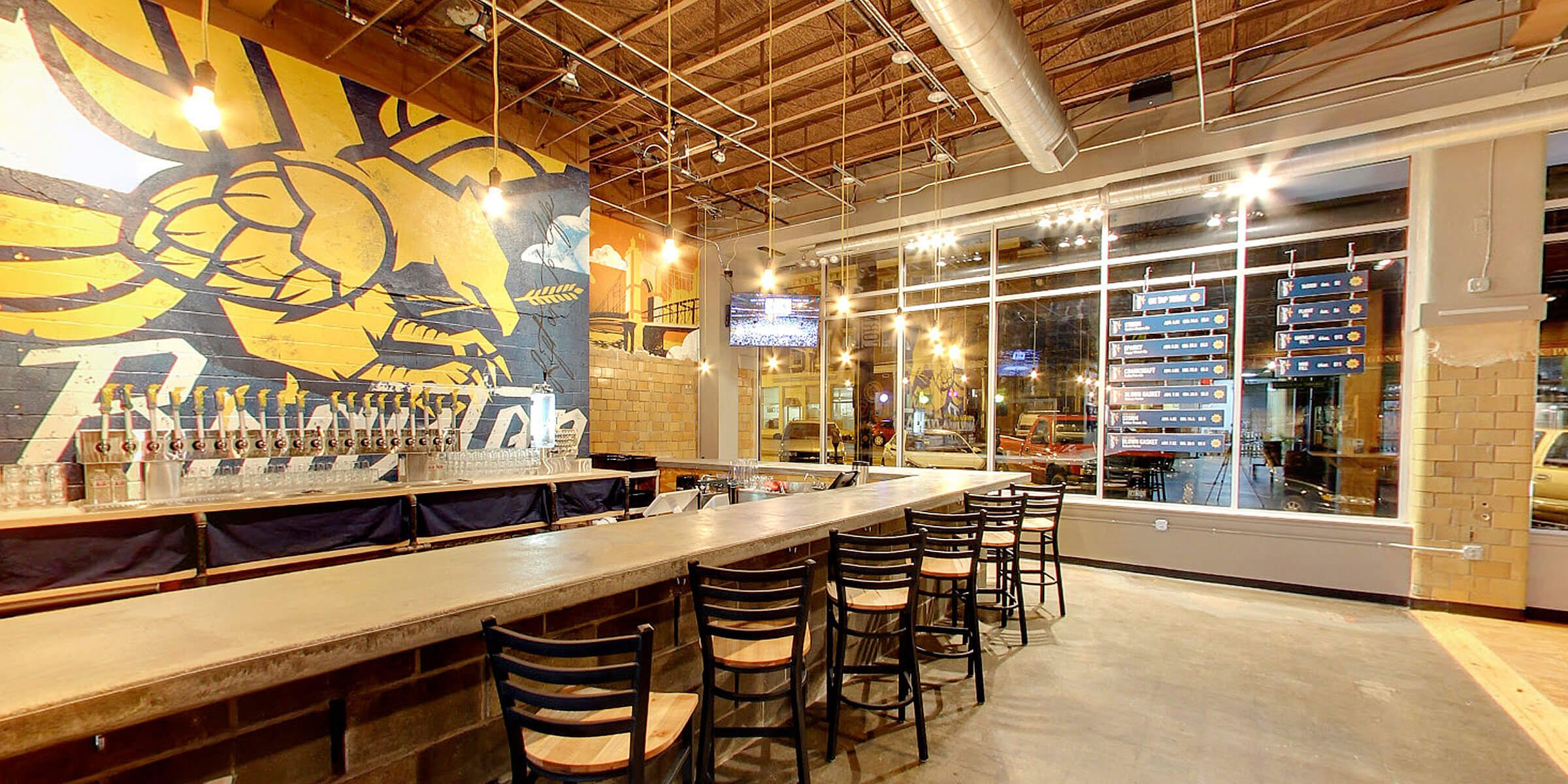 Inside The Taproom at Braxton Brewing Company in Covington, Kentucky
