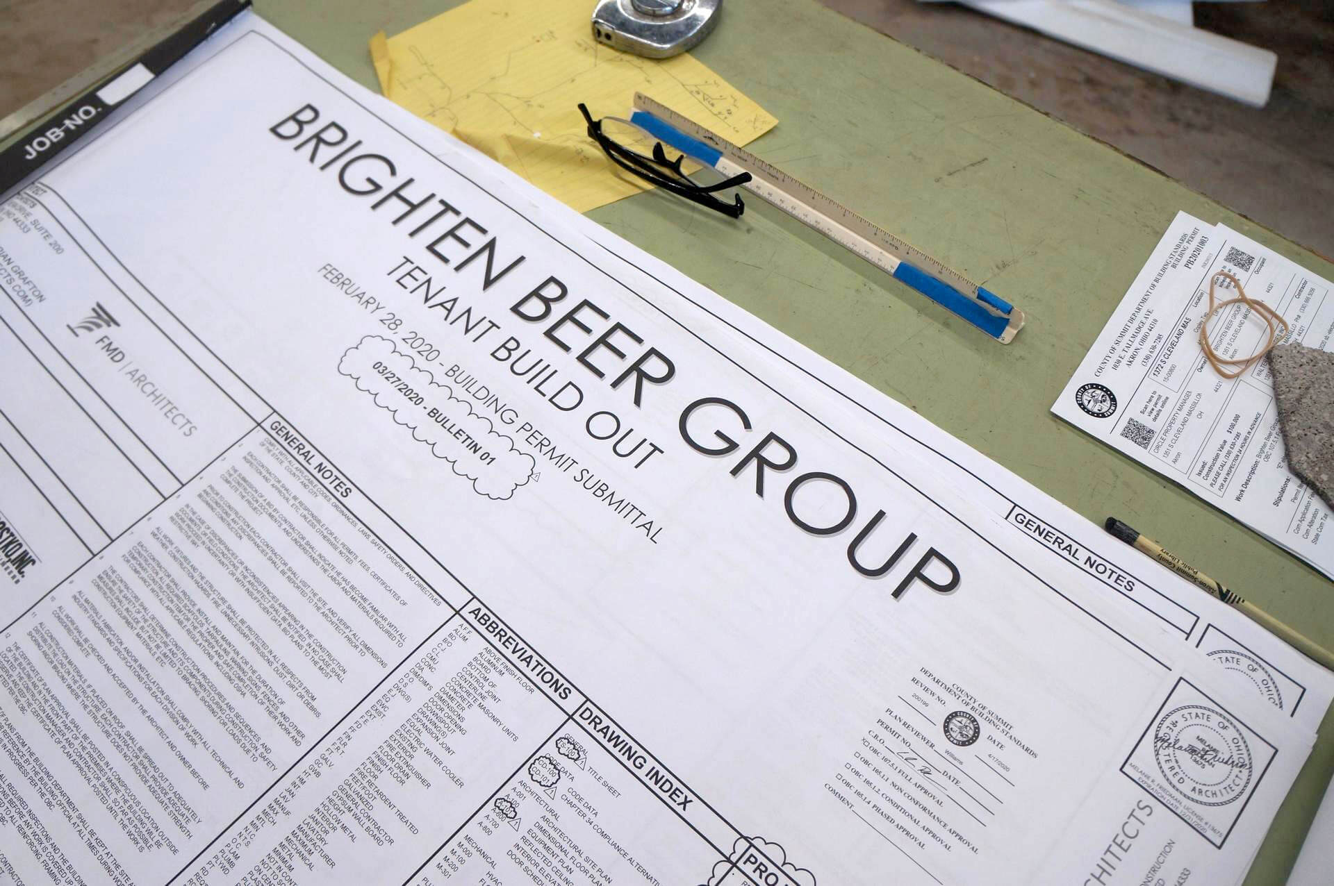 Brighten Brewing is under construction on Cleveland Massillon Road in Copley Township. [Rick Armon/CantonRep.com]