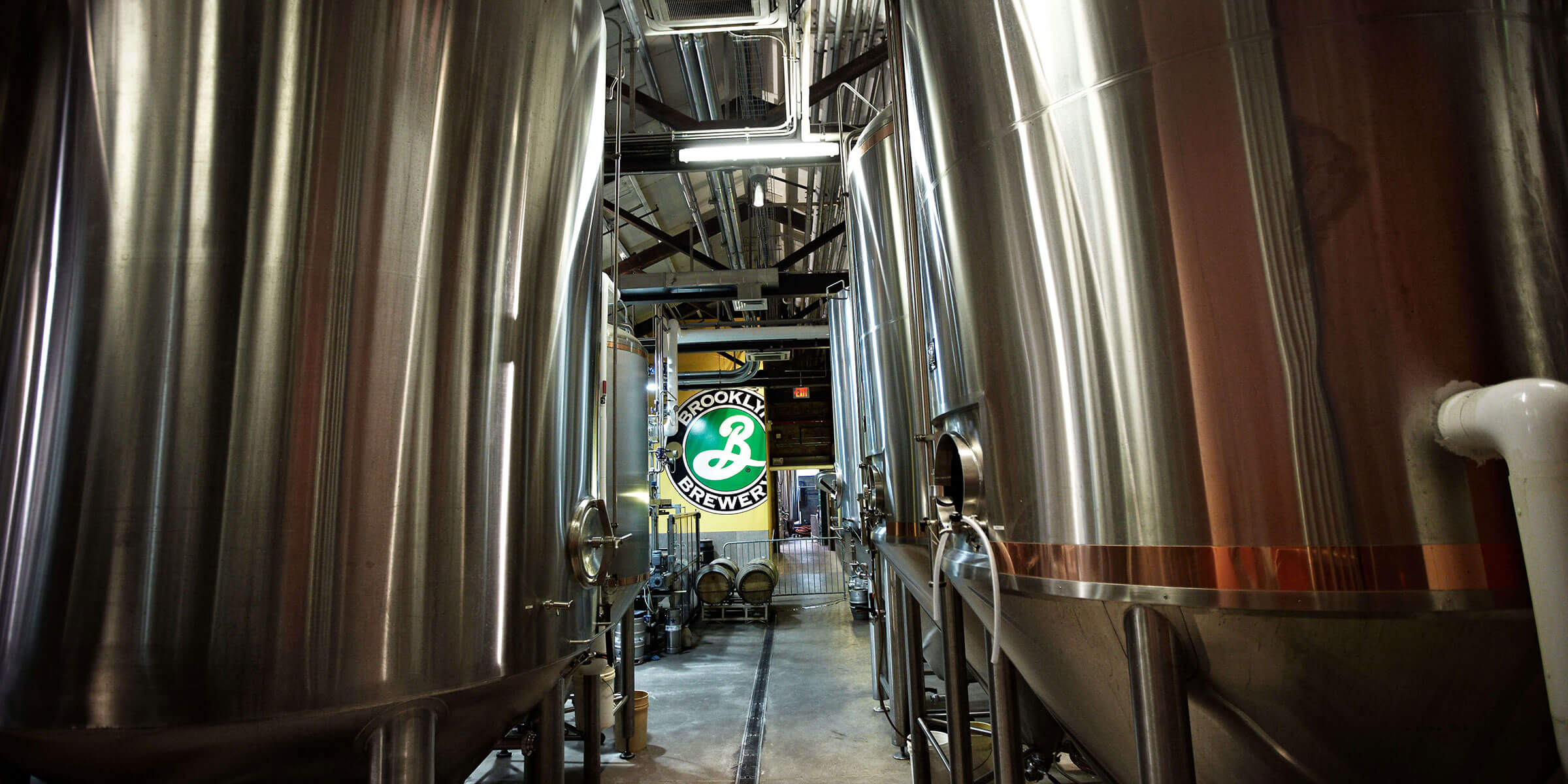 Inside the brewhouse at Brooklyn Brewery in Brooklyn, New York