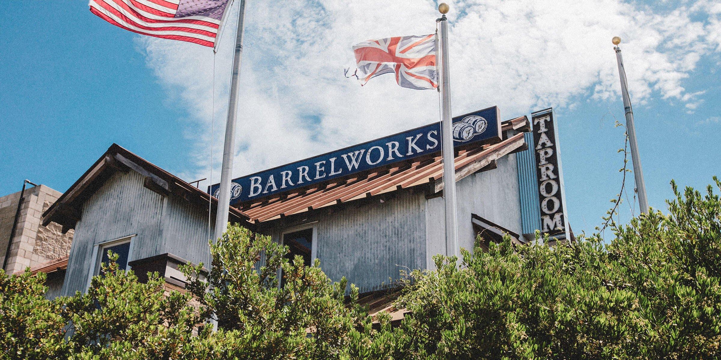 Outside the Buellton Taproom & Barrelworks of Firestone Walker Brewing Company in Buellton, California