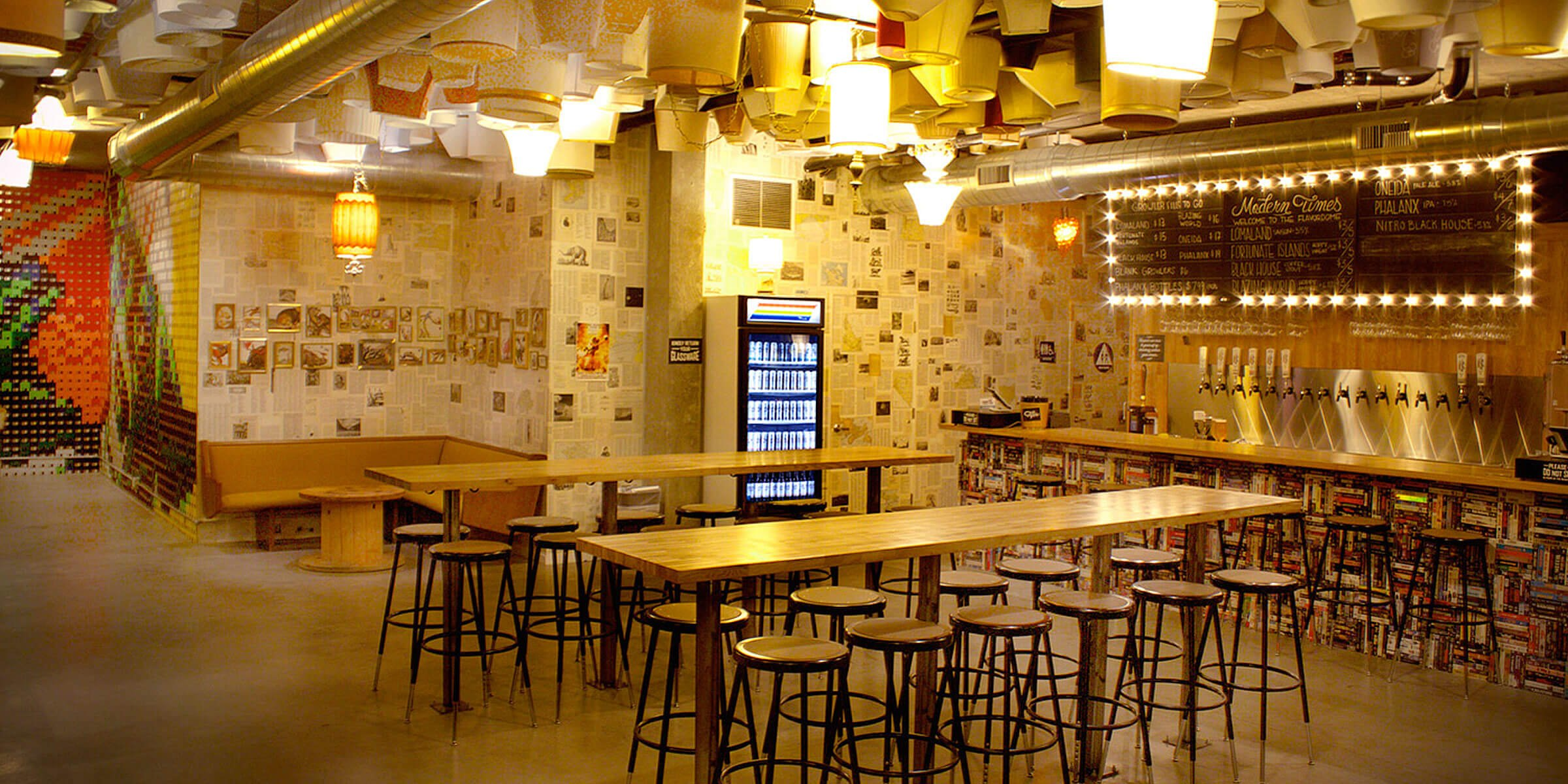 Inside the Modern Times Beer Flavordome in the North Park neighborhood of San Diego, California