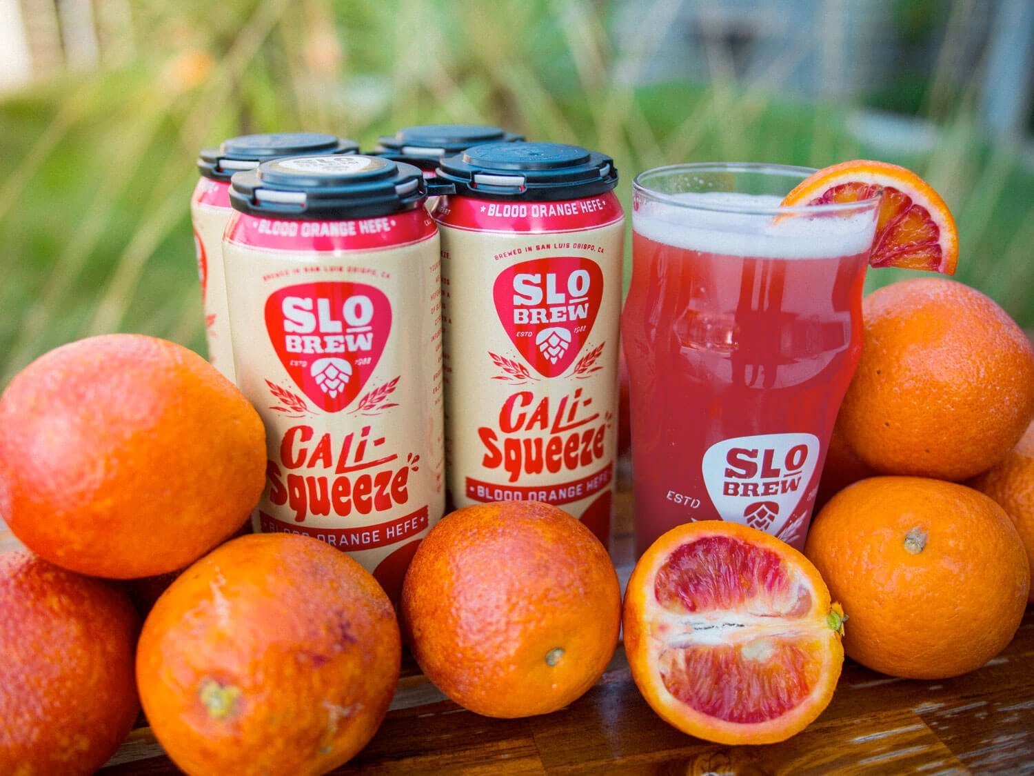 The Cali-Squeeze line of Hefeweizens features infused fruit purees and is available in Blood Orange, Mango, and Tropical P.O.G.
