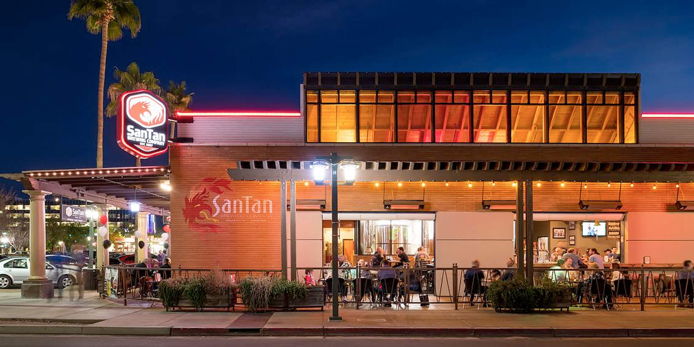 Outside the SanTan Brewing Company location in Downtown Chandler, Arizona