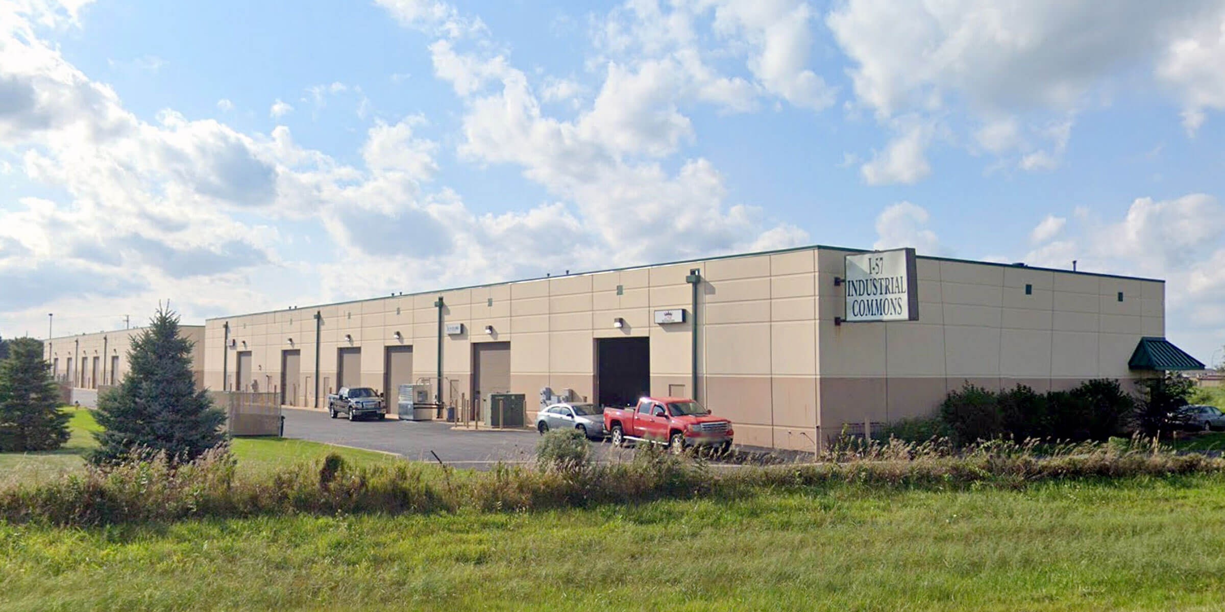 Outside the I-57 Industrial Commons where Beer Steam Hollow Brewing Co. is located in Manteno, Illinois