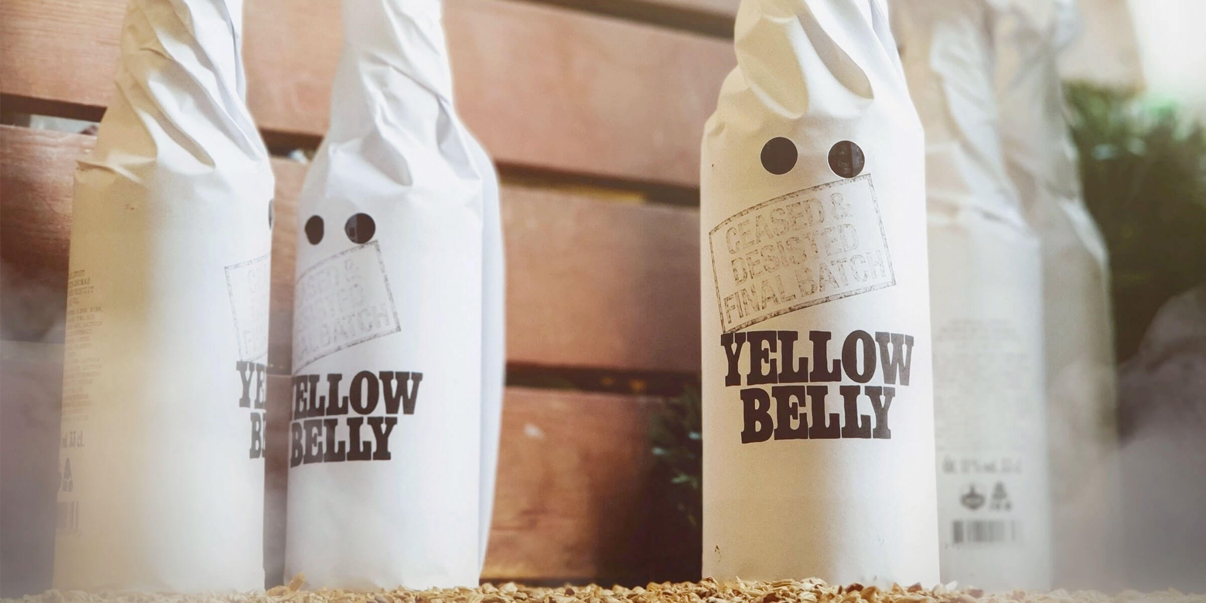 Bottles of Yellow Belly Imperial Stout by Omnipollo and Buxton Brewery