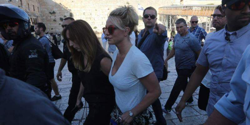 Britney went to visit the Western wall