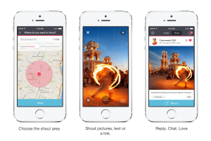 Shout app amazing check in app