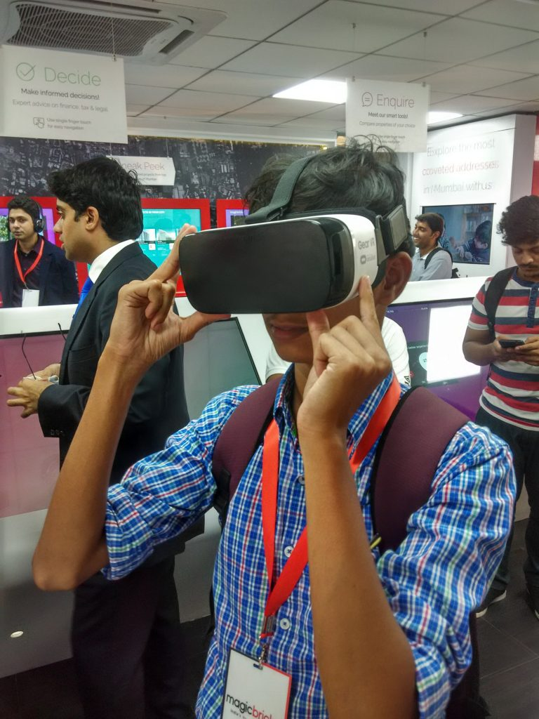 VR in the MagicBrick Experience Center