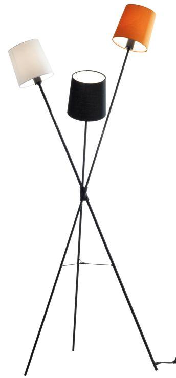 Dexter 3 lamp tripod floor light