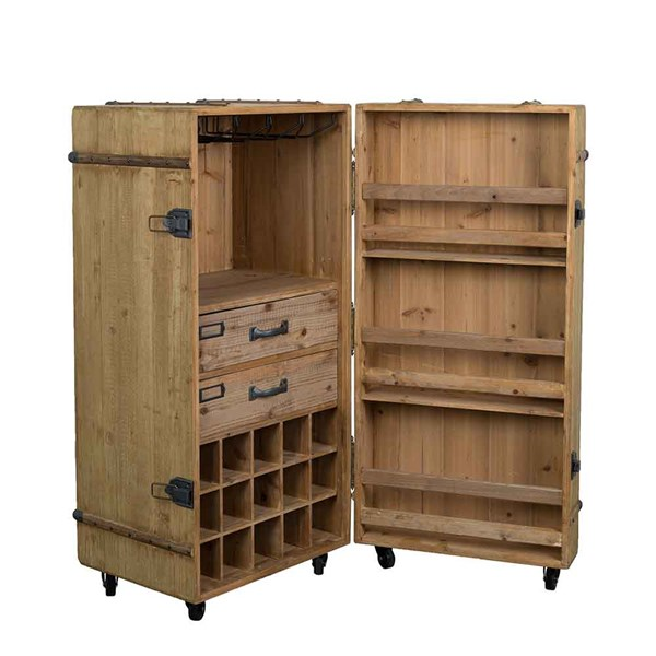 A best seller the Lico is an all encompassing drinks cabinet on wheels, with room for bottles, glasses and drink serving accessories.