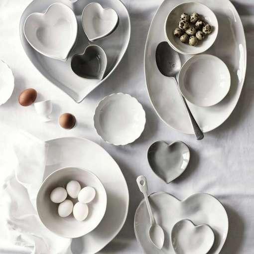 Porto Stoneware Large Heart Oven Dish
