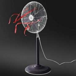 Swan Retro 16 Inch Oscillating Stand Fan, Black