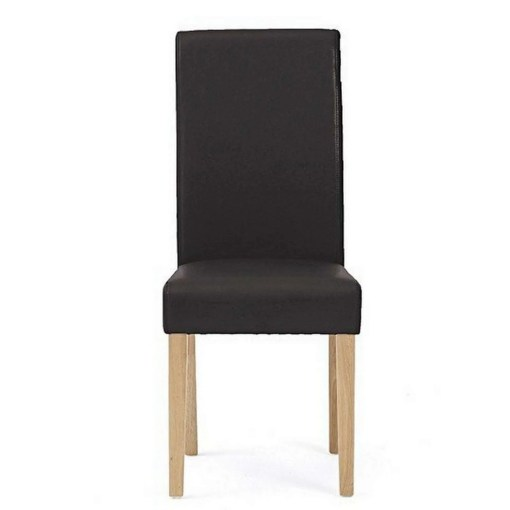 Albany Faux Leather Dining Chair, Black