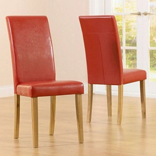 Albany Faux Leather Dining Chair, Red