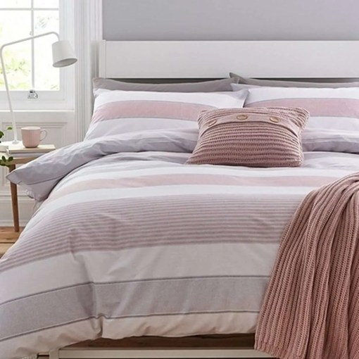 Newquay Stripe Reversible Duvet Set By Catherine Lansfield