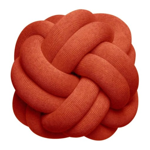 Knot Cushion 30x30cm, Red