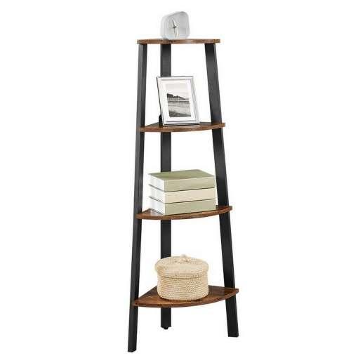 Amaia Metal Corner Ladder Bookcase