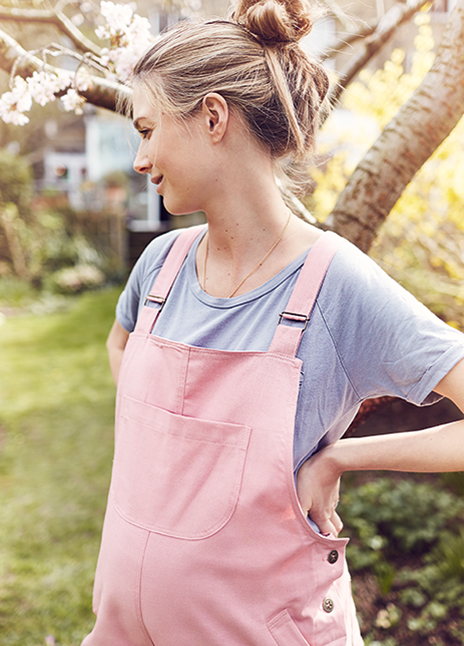 clary and peg pink dungarees