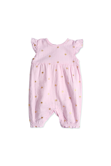 aden and anais pink metallic romper