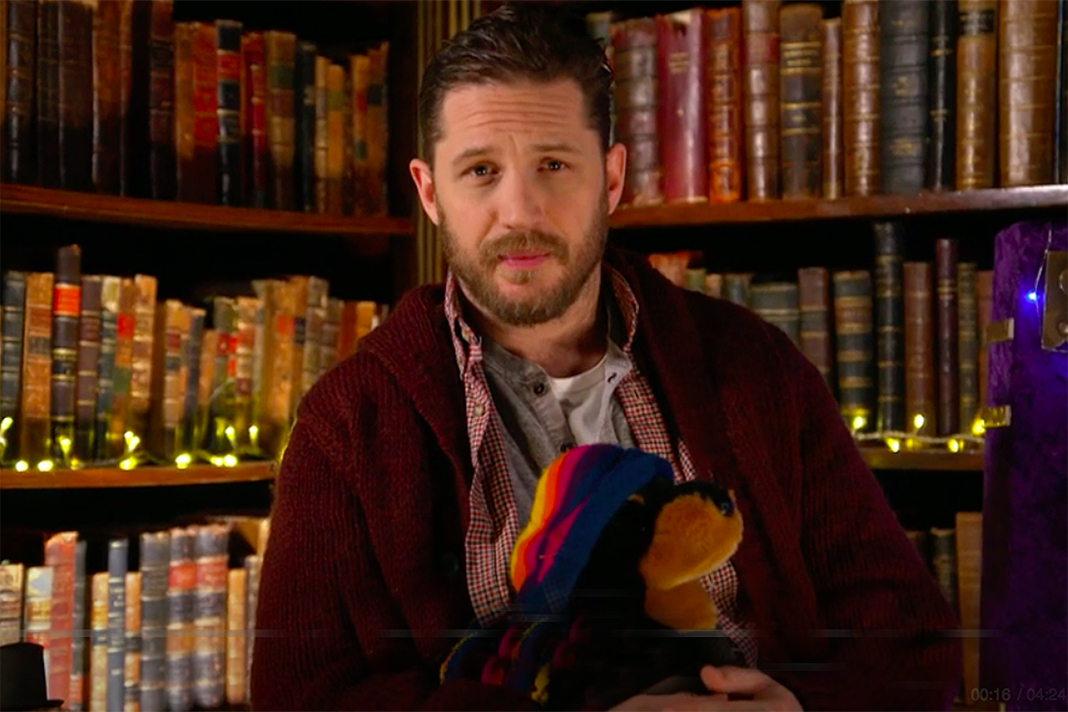 tom hardy bedtime story cbeebies