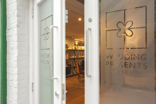 Wedding Presents Direct has a swish new showroom on the King's Road, Chelsea