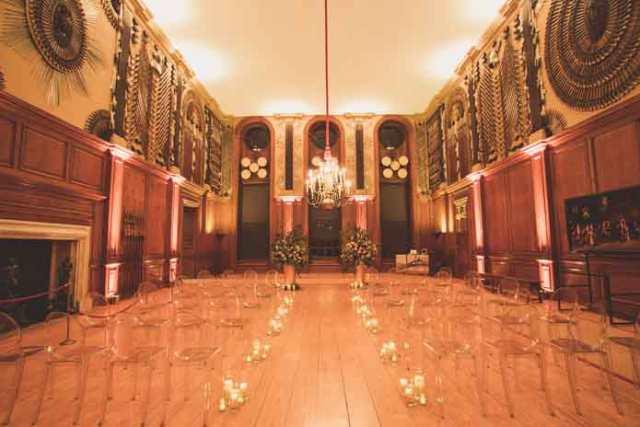 A winter wonderland wedding venue at Hampton Court Palace