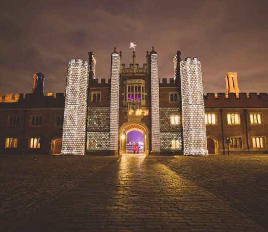 A winter wonderland wedding party at Hampton Court Palace
