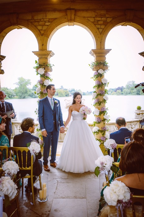 Real wedding: A fairytale party at Hever Castle