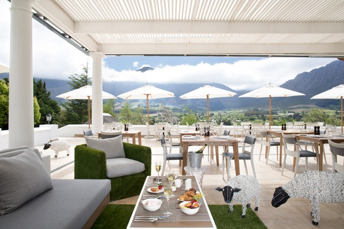 To explore the sights and the richness of the grape varieties beyond the hotel, take the Wine Tram, which departs regularly from the main square at Franschoek
