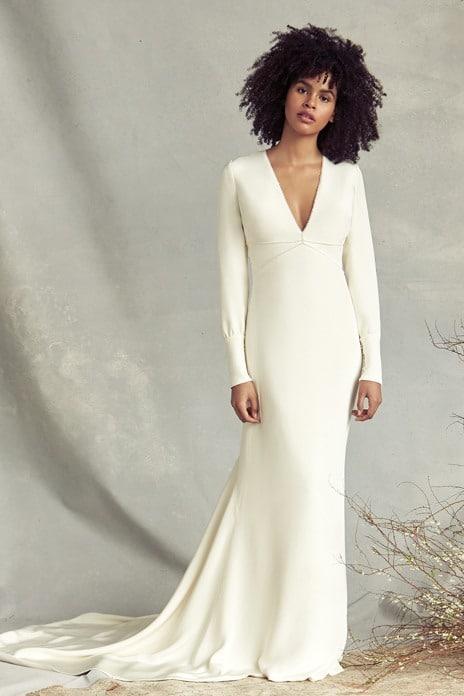 Bridal trend: Clean cut