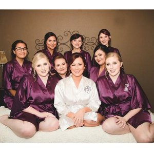 Embroidered monogram bridesmaids robes picture