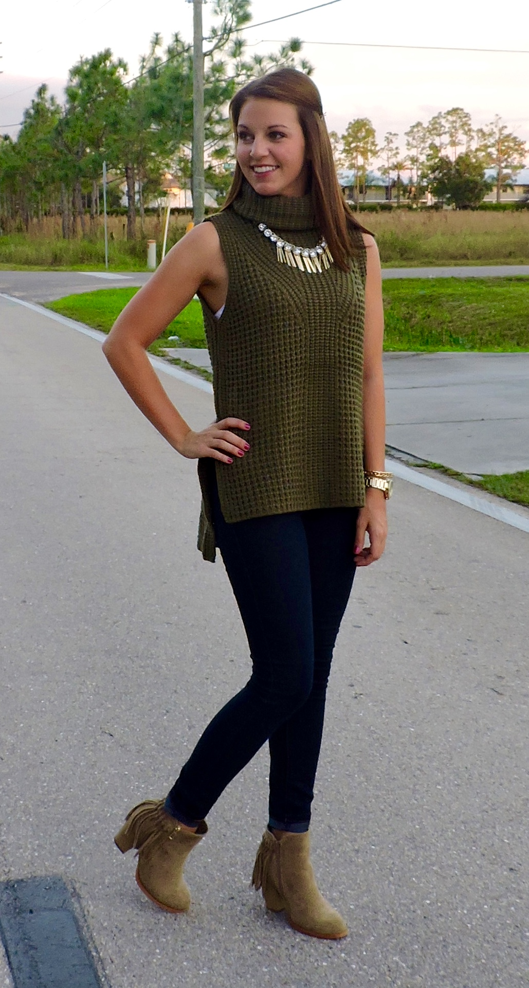 DSCN0186 - Statement Necklace With Turtleneck by Florida fashion blogger Absolutely Annie