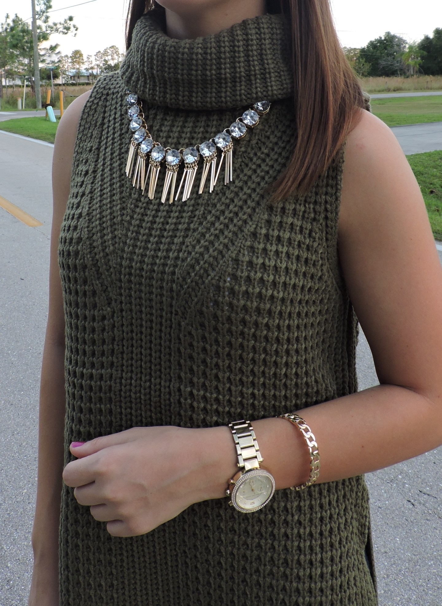 DSCN0190 - Statement Necklace With Turtleneck by Florida fashion blogger Absolutely Annie