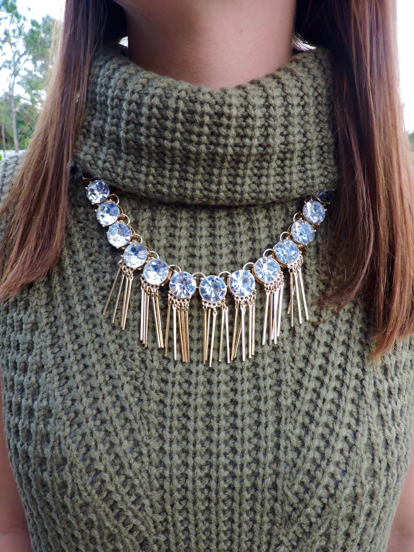 DSCN0198 - Statement Necklace With Turtleneck by Florida fashion blogger Absolutely Annie