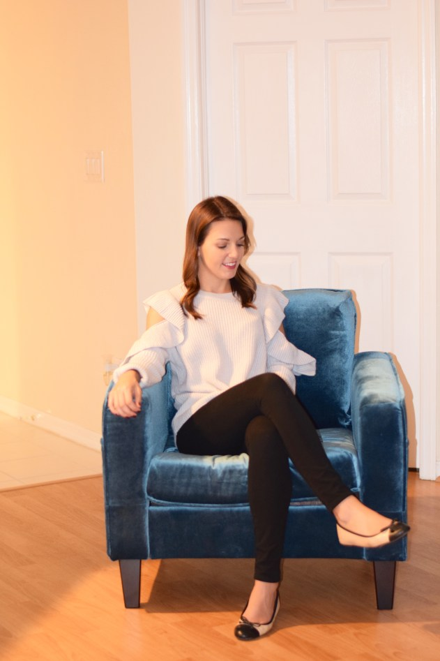Trying the Velvet Furniture Trend with South Shore Furniture by Florida style blogger Absolutely Annie
