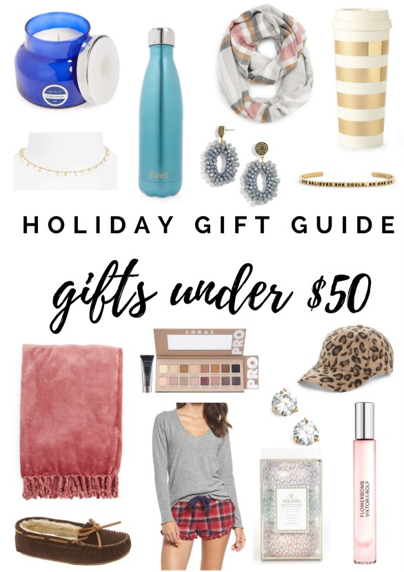 The Ultimate Holiday Gift Guide for Gifts Under $50 by Florida style blogger Absolutely Annie