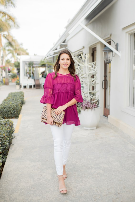 Lace Blouse for Spring by popular Florida fashion blogger Absolutely Annie