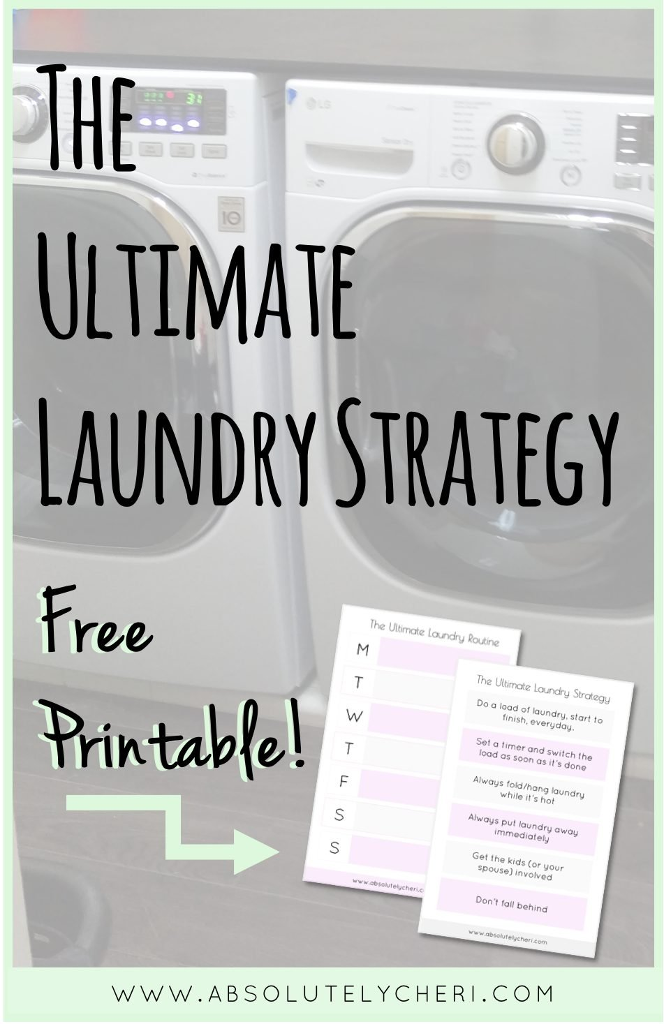 It really is a viscous cycle. I used to feel like I was always staring at a mountain of dirty laundry that needed to be washed or a mountain of clean laundry that needed to be folded. I finally discovered a strategy that helps me keep the laundry done efficiently.