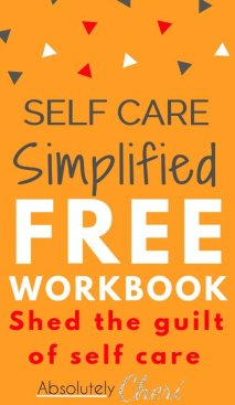 Self care workbook pin