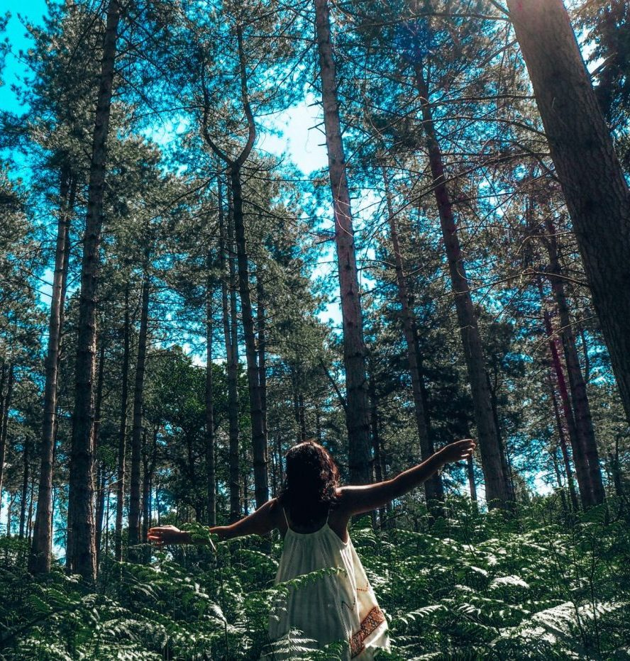 Facing your fears – girl in the woods