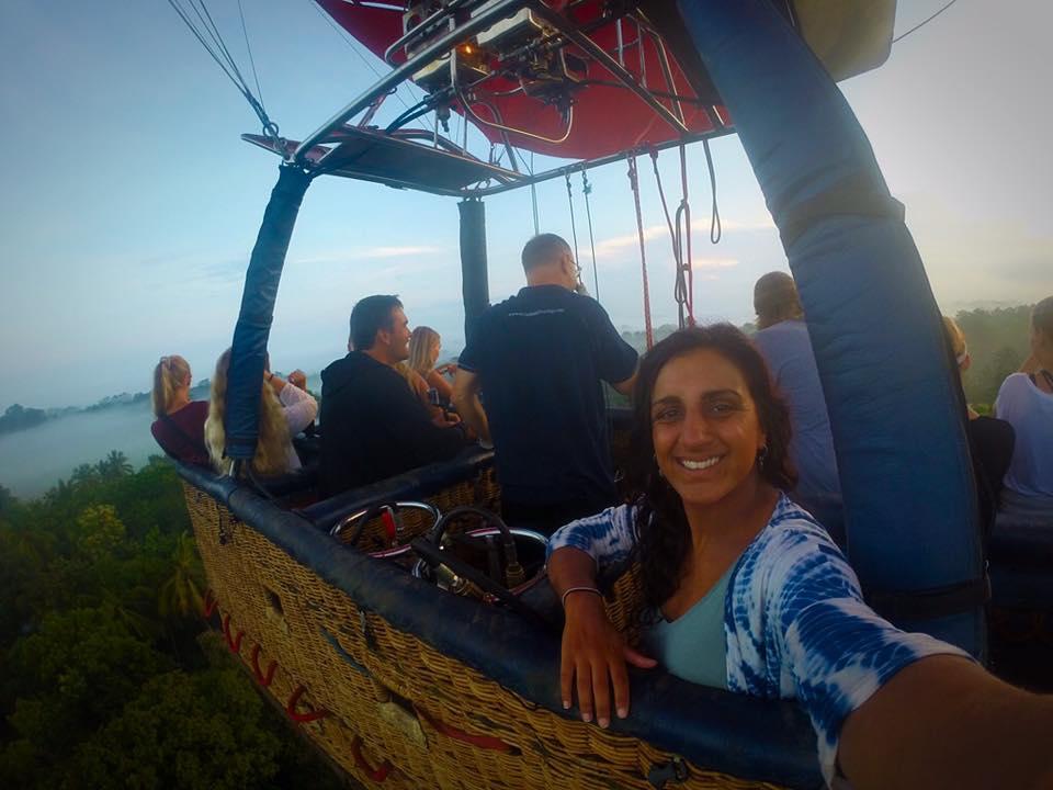 Hot air balloon ride in Dambulla, Cultural triangle, sri lanka