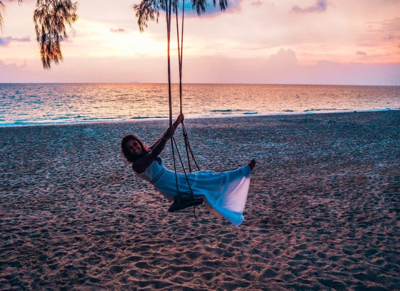 Swing at sunset