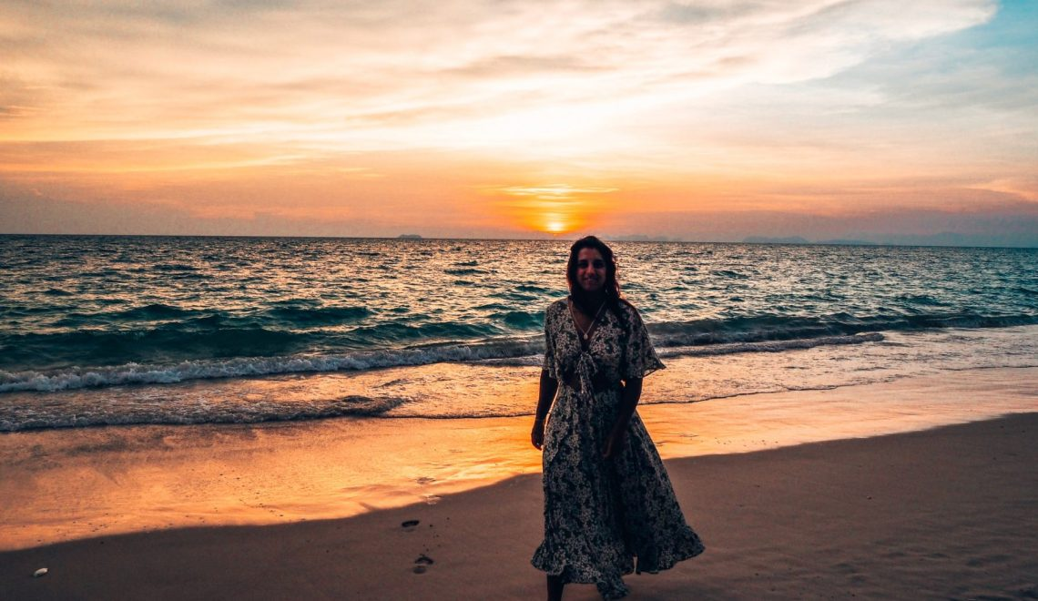 Absolutely Lucy sunset, Thailand, creating travel memories, Thailand Koh Lanta beach shots 2019