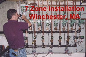 installed 7 zone high efficiency oil heat in Winchester, MA