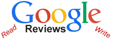 read, write, Google reviews