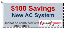 $100 coupon new AC system