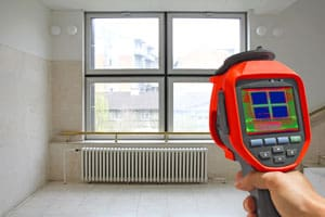 Thermal Detector Recording Radiator and a window in a building